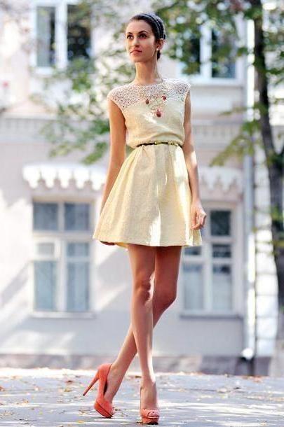 Dress Beige Tina Sizonova Dress Shoes cover image