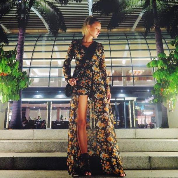 Romper Multi Martina M Blogger Floral Dress Boho Romper Shoes cover image