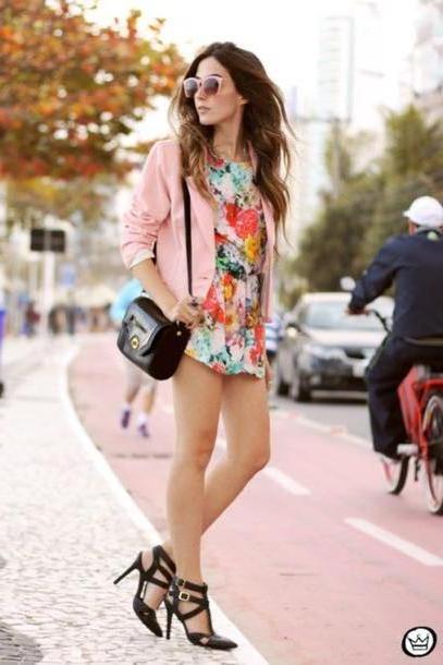 Romper Multi Fashion Coolture Blogger Jacket Bag Sunglasses Romper Shoes cover image