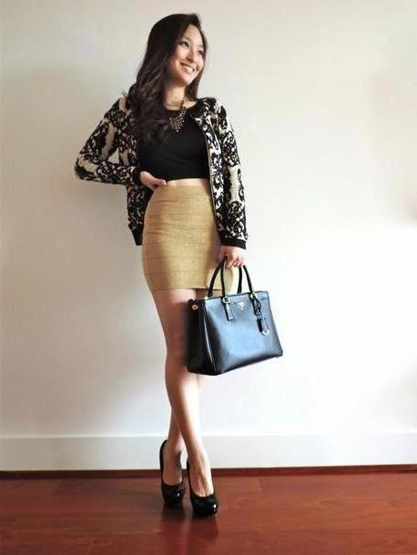 Skirt Beige Sensible Stylista Shirt Skirt Bag Shoes Jewels Sweater cover image