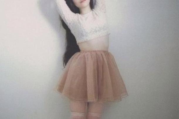 Skirt Beige Skirt Shirt cover image