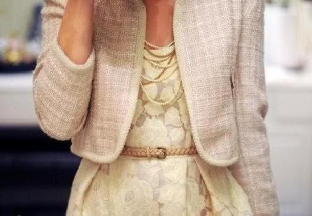 Dress Beige Dress Clothes Jacket cover image