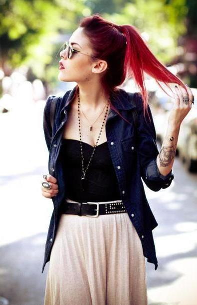 Skirt Beige Le Happy Black Boho Bohemian Belt Skirt Jacket Jewels Dress cover image