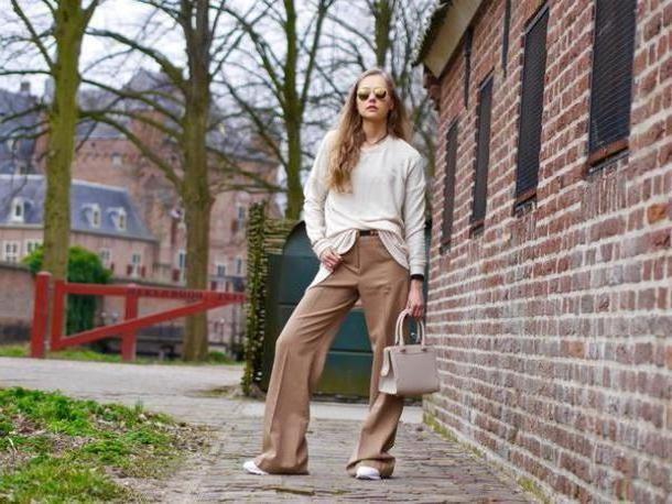 Pants Beige Fab Le Frique Blogger Sweater Pants Shoes Sunglasses Jewels Bag cover image