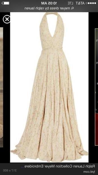 Dress Beige Dress Ralph Lauren Meyer Dress cover image