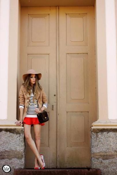 Jacket Neutrals Fashion Coolture Jacket Sweater Skirt Bag Jewels Hat cover image