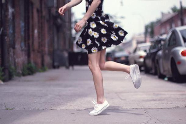 Floral Dress White Dress Floral Daisy Daisies Converse Skater Skirt Cute Sweaters cover image