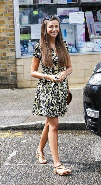 Floral Dress Black Michelle Keegan Floral Dress Daisy Dress Dress Shoes cover image