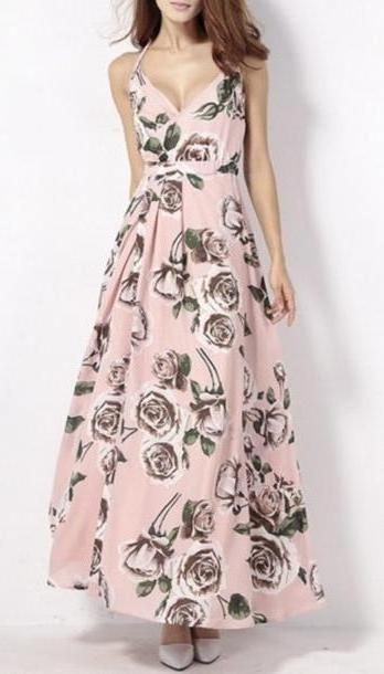 Floral Dress Pink Dress Floral Summer Fashion Style Mai Dress Pink Spring Beautifulhalo cover image