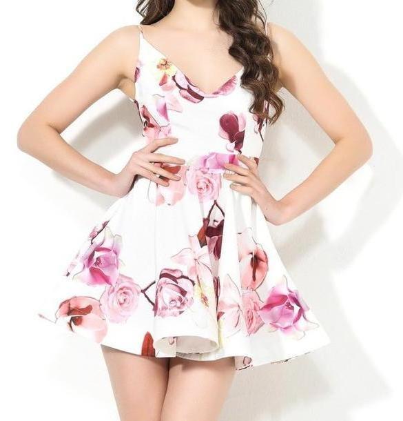 Floral Dress Pink Dress Floral Dress Puffy Dress Pink Dress Summer Dress Summer Outfits Flowers Flowy Dress Floral cover image