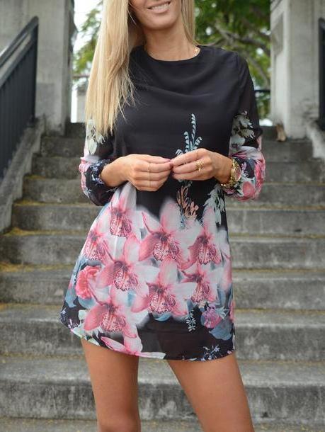 Floral Dress Black Dress Floral Black Summer Spring Fashion Trendy Zaful cover image