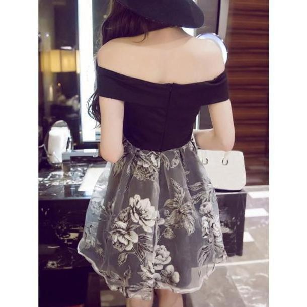 Floral Dress Black Dress Summer Floral Spring Cute Fashion Style Black Shoulder Rosewholesale Com cover image
