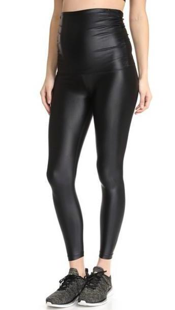 KORAL ACTIVEWEAR Lustrous Maternity Leggings in black cover image