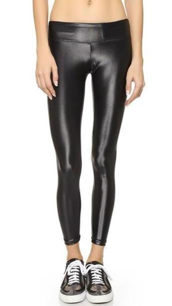 Koral Activewear Shiny Metallic Active Legging - Black cover image