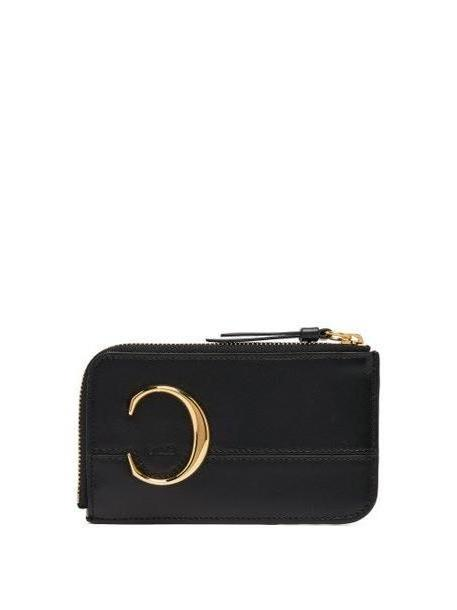 Chloé Chloé - C Monogram Leather Card And Coin Purse - Womens - Black cover image