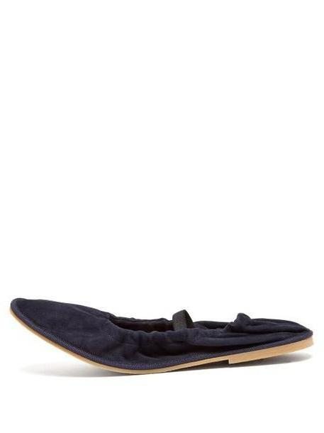 Alexachung - Mary Jane Suede Ballet Flats - Womens - Navy cover image