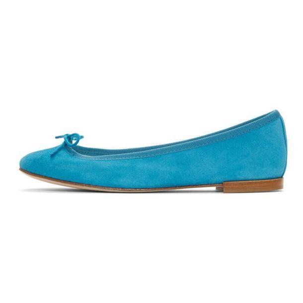 Repetto Blue Suede Cendrillon Ballerina Flats cover image