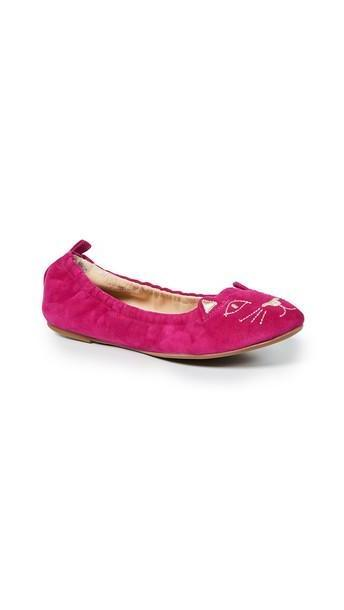 Charlotte Olympia Kitty Ballerina Flats in pink cover image