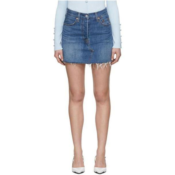 Levi's Blue Denim Deconstructed Miniskirt cover image