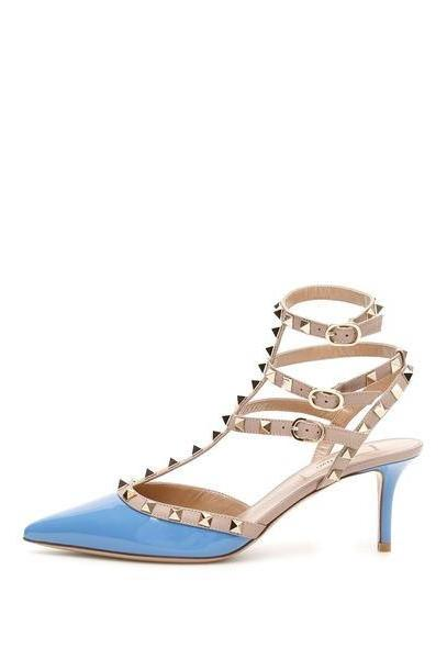 Valentino Rockstud Pumps in blue cover image