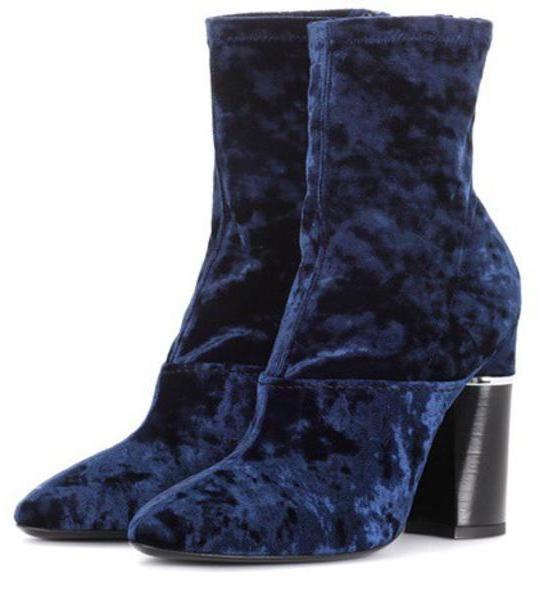 3.1 Phillip Lim Velvet ankle boots in blue cover image