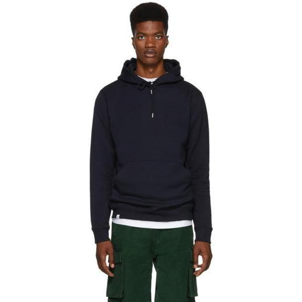 Norse Projects Navy Vagn Classic Hoodie cover image