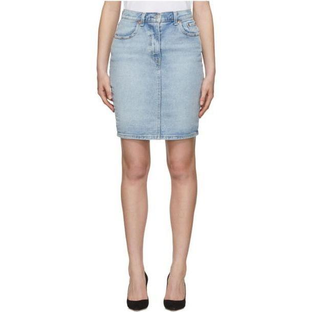Levi's Blue Denim Essential Miniskirt cover image