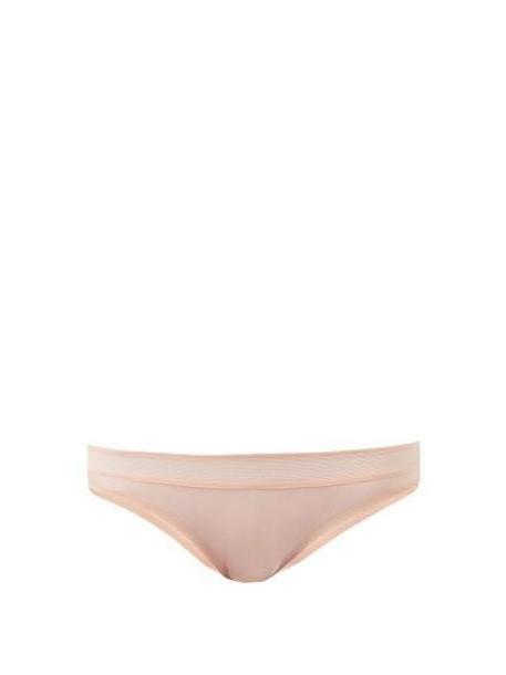 Stella Mccartney Lingerie - Grace Glowing Mesh Trim Briefs - Womens - Light Pink cover image