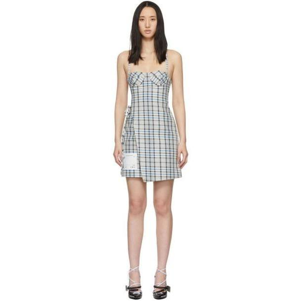 Off-White Off-White Check Wrap Lingerie Dress cover image
