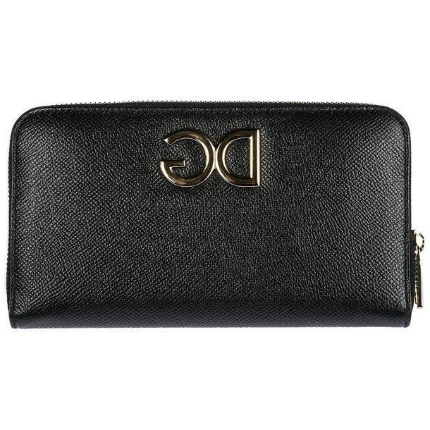 Dolce & Gabbana Women's Wallet Genuine Leather Coin Case Holder Purse Card Bifold in nero cover image