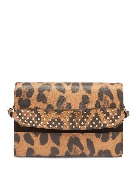 Christian Louboutin - Loubiblues Leopard Print Leather Clutch Bag - Womens - Leopard cover image
