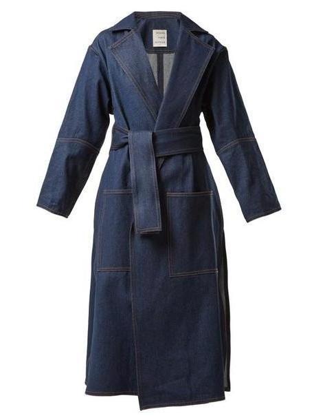 Maison Rabih Kayrouz - Notch Lapel Denim Coat - Womens - Denim cover image