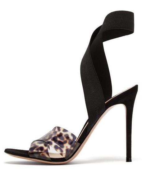 Gianvito Rossi - Plexi 105 Leopard Print Sandals - Womens - Leopard cover image