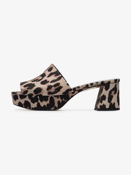 Ganni brown Leonie 60 platform sandals cover image