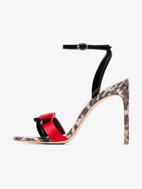 Sophia Webster Andie 100 leopard heel leather sandals cover image