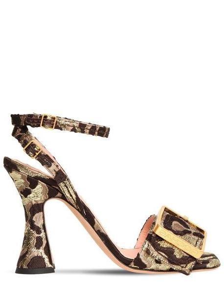 ROCHAS 100mm Leopard Jaquard Sandals cover image