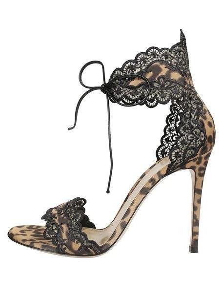 Gianvito Rossi Raslepa Sandals in leopard cover image
