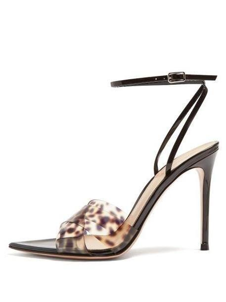 Gianvito Rossi - Leopard Print Strap 105 Patent Leather Sandals - Womens - Leopard cover image