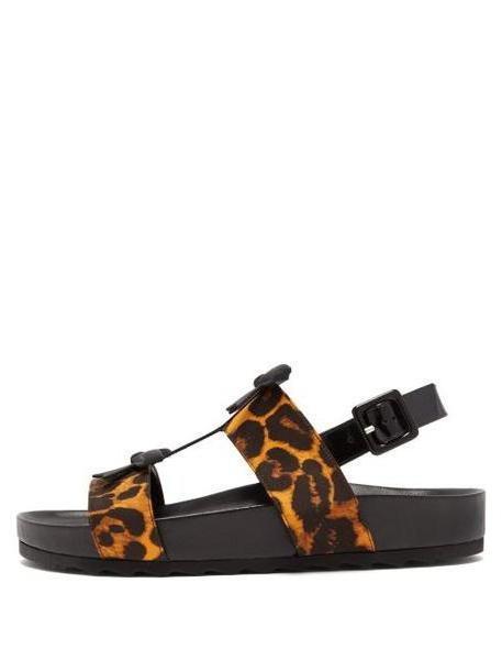 Fabrizio Viti - Berkley Leopard Print Satin And Leather Sandals - Womens - Leopard cover image