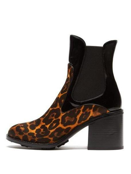 Fabrizio Viti - Madison Leopard Print Leather Ankle Boots - Womens - Leopard cover image