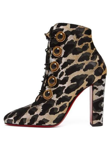 Christian Louboutin - Lady See 100 Leopard Print Ankle Boots - Womens - Leopard cover image