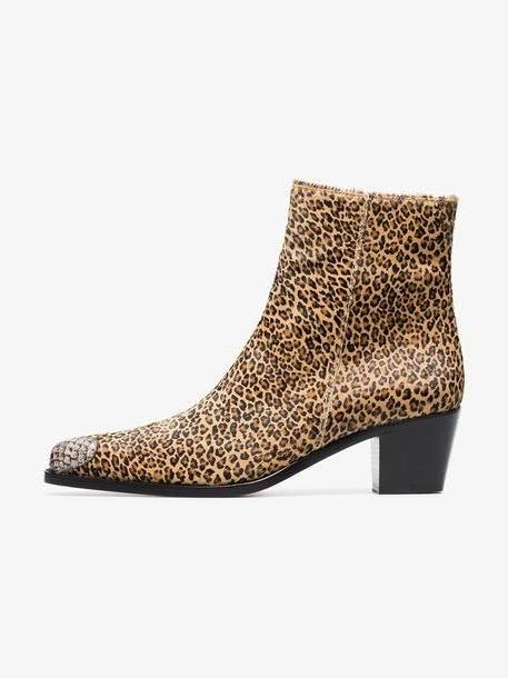 Boyy Milanese 55 leopard print Ankle boots cover image