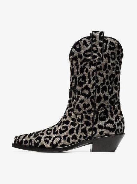 Dolce & Gabbana Texan 40 leopard cowboy boots cover image