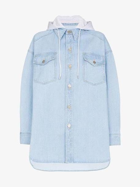 Juun.J Oversized denim shirt hoodie cover image