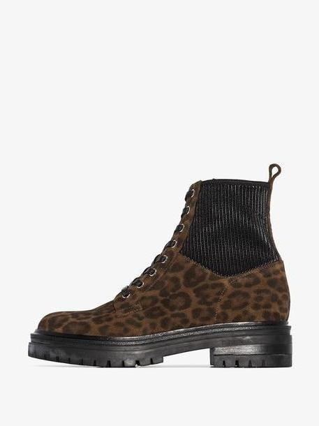 Gianvito Rossi leopard print ankle boots cover image