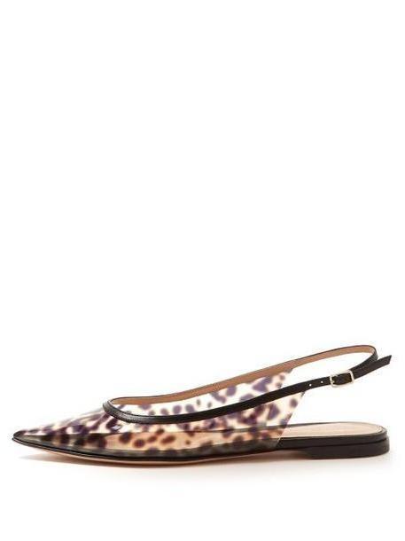 Gianvito Rossi - Leopard Print Plexi Slingback Flats - Womens - Leopard cover image