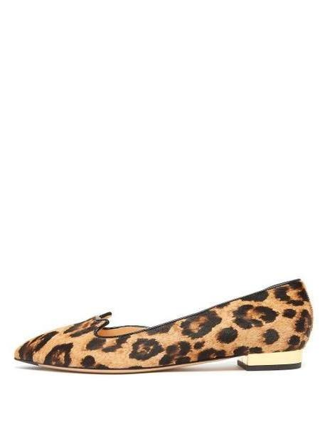 Charlotte Olympia - Kitty D'orsay Leopard Print Calf Hair Flats - Womens - Leopard cover image