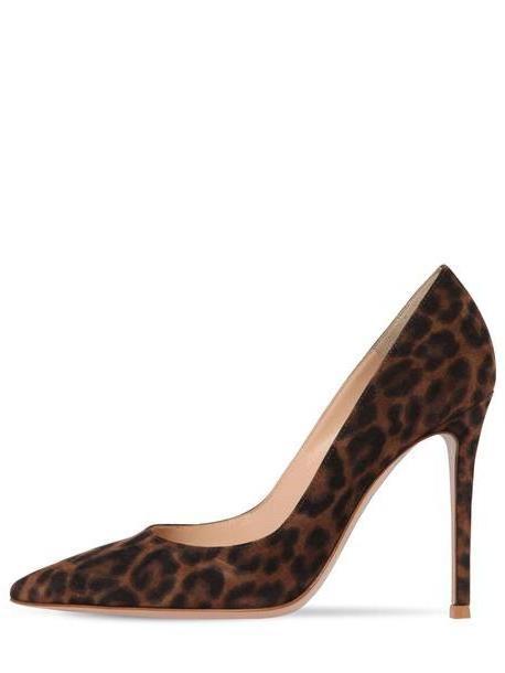 GIANVITO ROSSI 105mm Gianvito Leopard Print Suede Pumps cover image