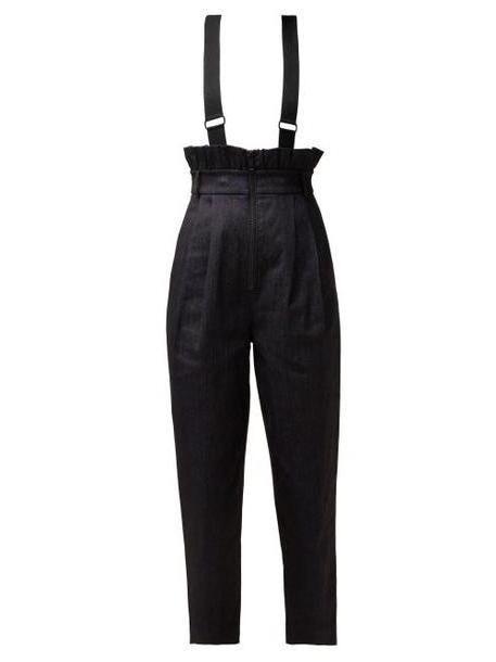 Tibi - Paperbag Waist Denim Trousers - Womens - Denim cover image