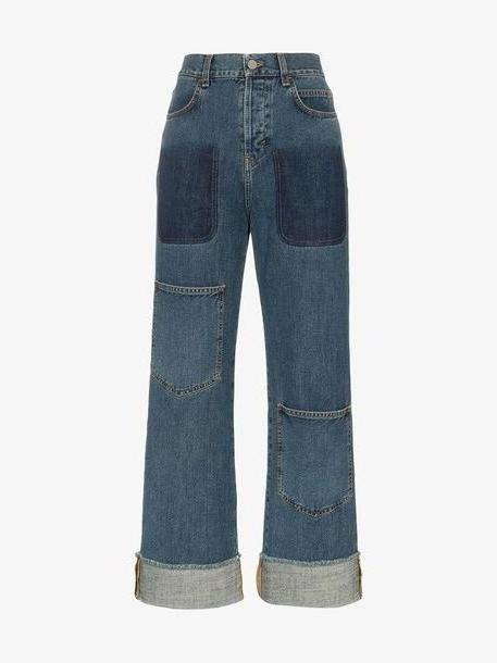 JW Anderson Women's Shaded Pocket Detail Denim Trousers cover image